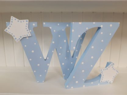 Blue Freestanding Letters WZ