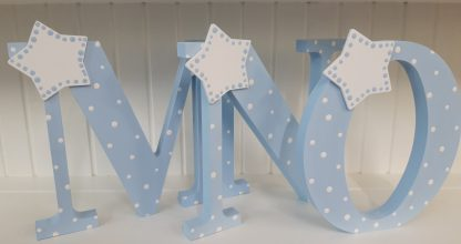 Blue Freestanding Letters MNO