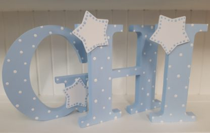 Blue Freestanding Letters GHI