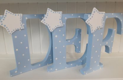 Blue Freestanding Letters DEF