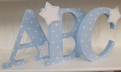 Blue Freestanding Letters ABC
