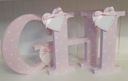 Pink Freestanding Letters GHI
