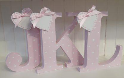 Pink Freestanding Letters JKL