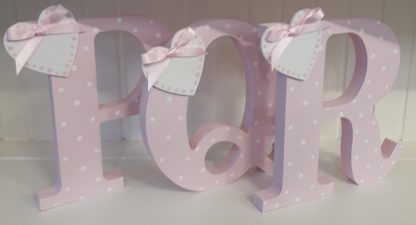 Pink Freestanding Letters PQR