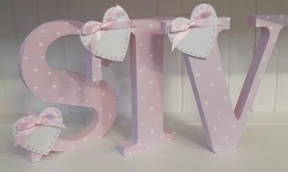 Pink Freestanding Letters STV