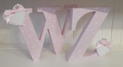 Pink Freestanding Letters WZ