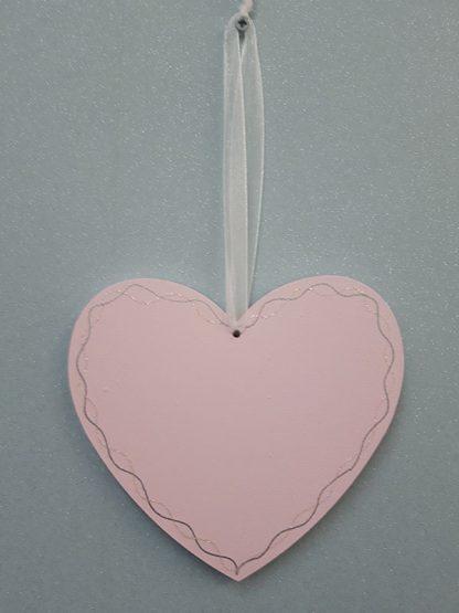 Heart Plaque Pink