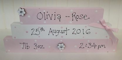 Stackable blocks for baby girl