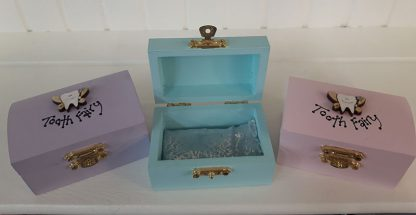 Tooth Fairy Boxes in Lilac, Aqua & Light pink